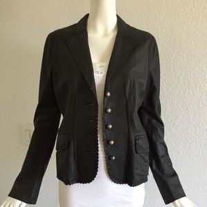 Laundry by shelli Segal black leather h jacket